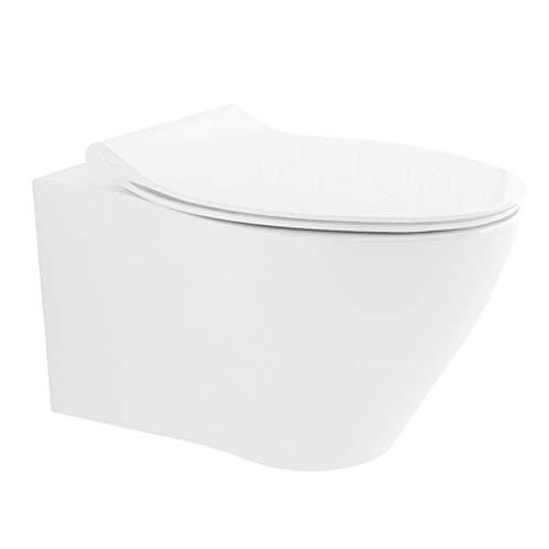 Alpenberger Spülrandloses Tiefspül-WC aus hochwertiger Sanitärkeramik mit...