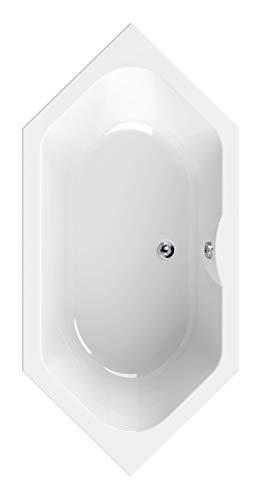 Calmwaters® Sechseck Badewanne 190x90 cm, Acrylwanne Exclusive, Duo-Badewanne für zwei...