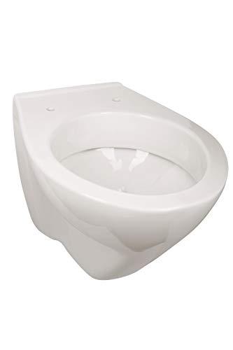 'aquaSu® Wand-WC | Tiefspüler | Weiß | WandWC | Toilette | Hänge-WC | Klo | Bad |...