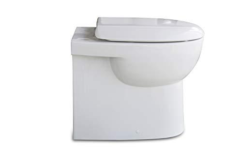 Stand WC/weiß/WC Sitz/Deckel/Soft Close/Quick Release/Tiefspüler/Spülrand geschlossen/Best...