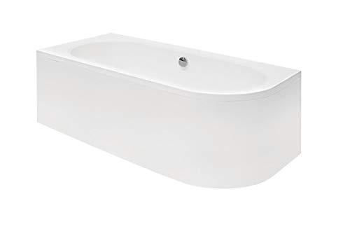 ECOLAM Badewanne Wanne Eckwanne Eckbadewanne für Zwei Modern Design Acryl weiß Avita 180x80...