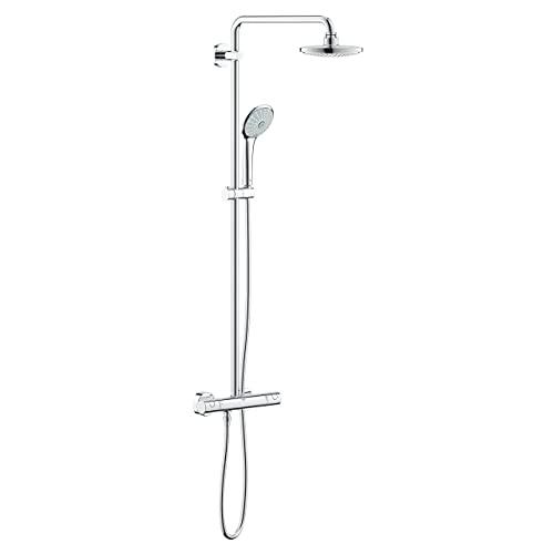 Grohe Euphoria 180 | Duschsystem - mit Duschthermostatarmatur, Kopfbrause, Handbrause &...