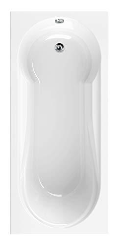 Calmwaters® Rechteck-Badewanne mit Dusche 180x80 cm, Acrylwanne Modern Small 2 mit Duschzone,...