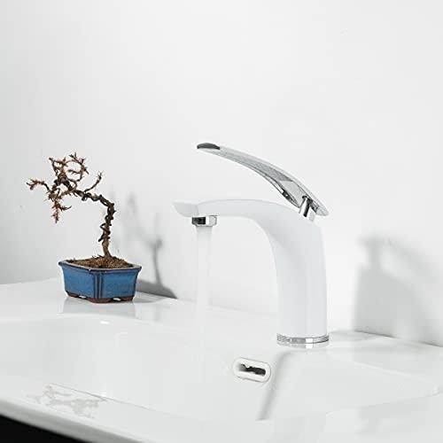 GAPPO Waschtischarmaturen weiß Badarmatur Einhebelmischer Wasserhahn weiß für Badzimmer...
