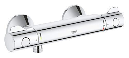 Grohe Grohtherm 800 | Thermostat-Brausebatterie, mit integrierter Mischwasserabsperrung u....