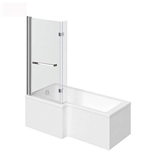 Home Deluxe - Badewanne mit Duschwanne - Elara rechts - inkl. komplettem Zubehör und...