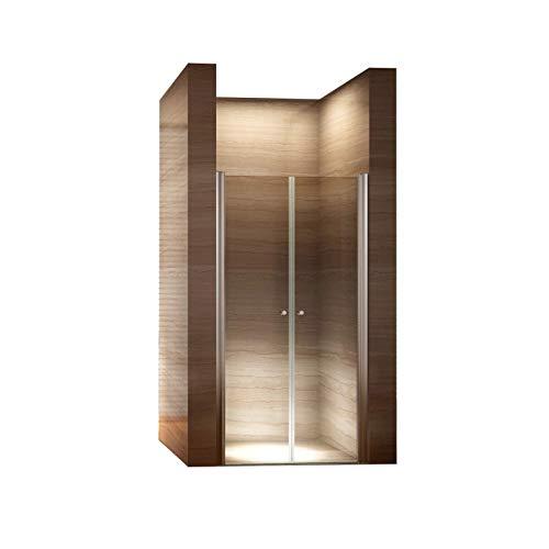 i-flair 90cm - Verstellbereich von 88-92cm, Höhe: 195 cm, Duschabtrennung, Duschtür aus 6mm...