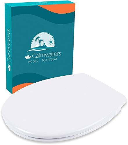 Calmwaters® Premium WC Sitz Toilettendeckel antibakteriell, Made in EU, Klodeckel mit...