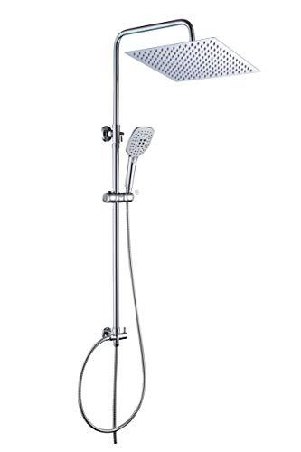JOHO Duschset Duschstangeset Duschsäuleset Duschsystem mit Duschkopf aus rostfreiem Edelstahl...