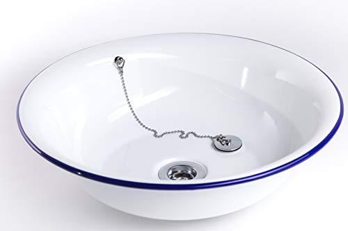 Premium Emaille Waschbecken ANNI, ø40x11cm | viele Farben, Designs & Logo | Handgemacht in...