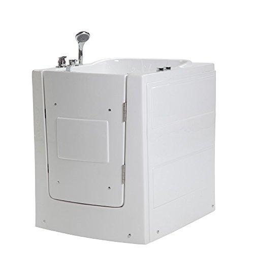 Home Deluxe - Seniorenbadewanne inkl. Whirlpool- Vital L rechts - Maße: 153 x 76 x 64cm -...
