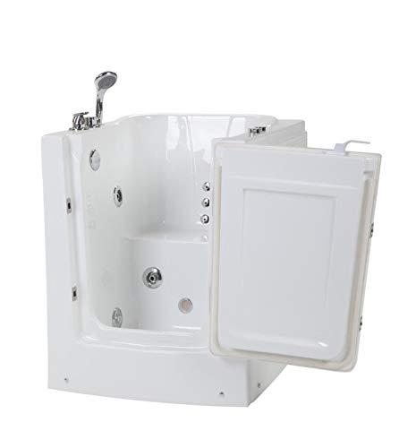 Senioren Whirlpool Badewanne 95x85 cm zum sitzend Baden für Altenpflege mit Armaturen...
