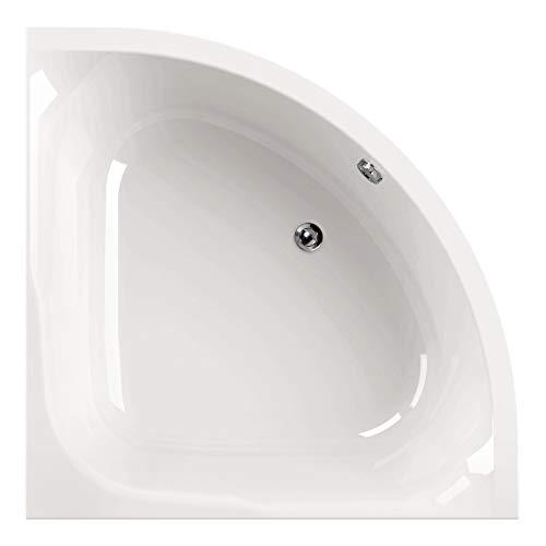 Calmwaters® Raumsparende Eckbadewanne 120x120 cm, Acrylwanne Modern Small 2 für zwei...