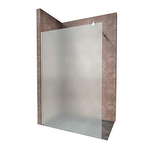 Duschabtrennung Duschwand Walk In Dusche 10mm STARK aus SATINIERTEM ESG Sicherheitsglas mit...
