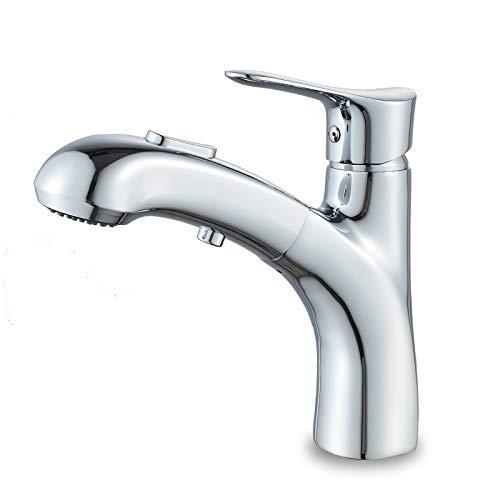 Solepearl Wasserhahn Bad mit Brause Ausziehbar Messing Waschtischarmatur Mischbatterie...