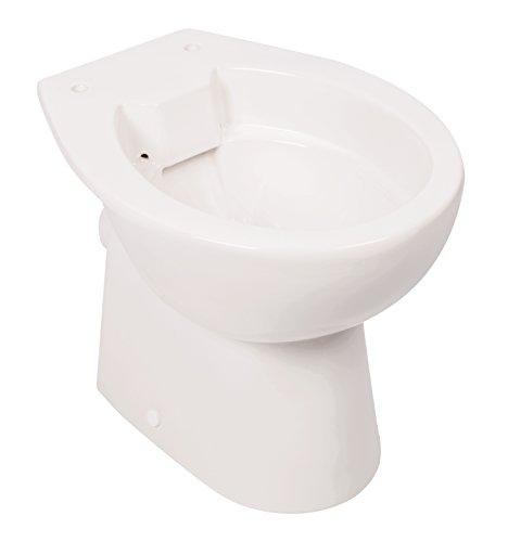 'aquaSu® Spülrandloses Stand-WC | Tiefspüler | Abgang waagerecht | Weiß | Toilette |...