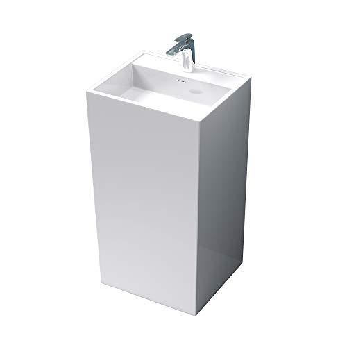 Design Standwaschbecken Col34 in Weiß, aus Gussmarmor, Standwaschtisch, Waschtisch, BTH:...