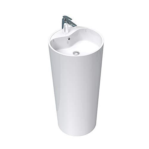 Mai & Mai Design-Standwaschbecken Col35 in Weiß aus Gussmarmor Standwaschtisch Waschtisch BTH:...
