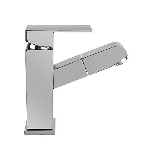 HOMFA Waschtischarmatur Wasserhahn Ausziehbare Bad Waschtisch-Einhebelmischer Küchenarmatur...