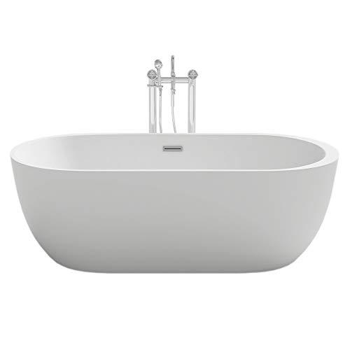 Home Deluxe - freistehende Badewanne - Design Badewanne freistehend Codo weiß - Maße: ca. 170...