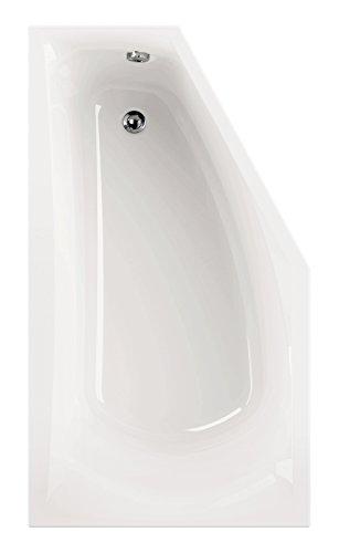 'aquaSu® Acryl - Badewanne corDia I 160 x 90 cm I Weiß I Rechts I Wanne I Badewanne I Bad I...