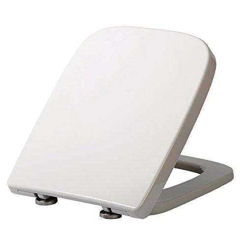 WOLTU WS2615 WC Sitz Toilettensitz mit Absenkautomatik, Fast Fix/Schnellbefestigung, Duroplast,...
