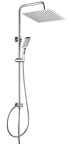 OUNUO Regendusche Duschset Duschsystem Edelstahl mit Kopfbrause 30 x 30 cm Handbrause...