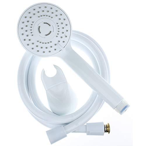 Sanixa TA3386001 Handbrause-Set weiß mit Schlauch und Halterung Duschkopf Set wassersparend...