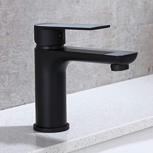 DUTRIX Schwarz Wasserhahn Bad Waschtisch Bad Armatur Schwarz Badarmatur Einhand...