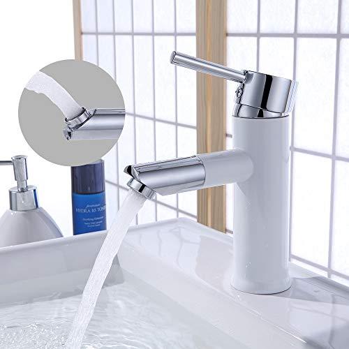 Homelody 360° drehbar Auslauf Badarmatur Waschtischarmatur für Bad Wasserhahn Einhebelmischer...