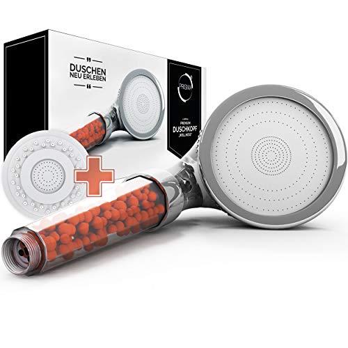 PRISMA Premium Duschkopf Handbrause wassersparend mit Druckerhöhung für mehr Wasserdruck -...