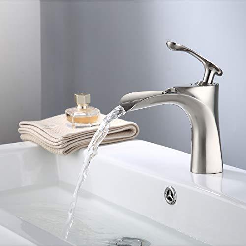 TIMACO Wasserhahn Bad Wasserfall Einhebel Bad Mischbatterie Bad Waschtischarmatur Waschbecken...