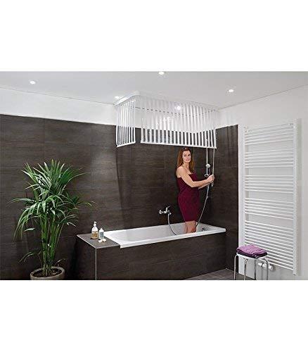 3 verschiedene Designs: ECK-DUSCHROLLO für die Badewanne!    Von Kleine Wolke