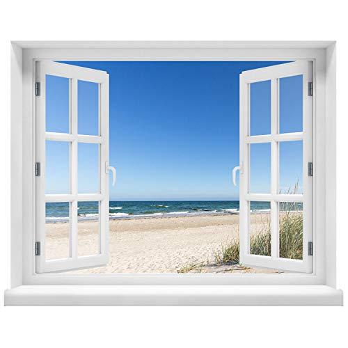 Wandtattoo - Motiv Fenster mit Aussicht - Wandaufkleber - Wandsticker - Wandbild selbstklebend...