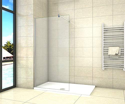 Aica Sanitär Duschwand Walk In Dusche 50cm Duschabtrennung 8mm NANO Glas Duschtrennwand 200cm...
