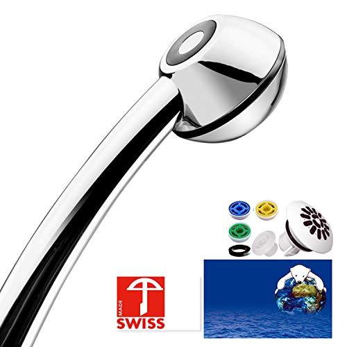 Duschkopf SwissClima BLACK TOP! Kräftig für mehr Druck, zB Durchlauferhitzer und weniger...