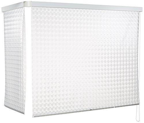 ECO-DuR 4024879002527 Kassetten ECK Duschrollo 137 x 62 cm weiß - Kreisel