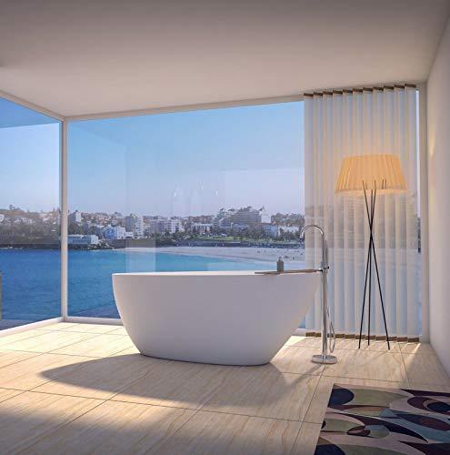 Freistehende Badewanne | Standbadewanne | Gussmarmor/Mineralguss/Solid Surface | Matt Weiß |...