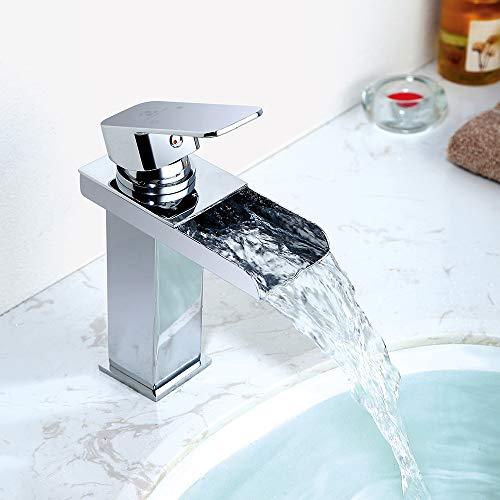 Homelody Wasserhahn Bad Wasserfall Wascbecken Armatur Badarmatur Mischbatterie...