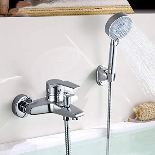 Auralum Badewannenarmatur mit 5 Funktionen Handbrause, klassisch Badewanne Duschset Duschsystem...
