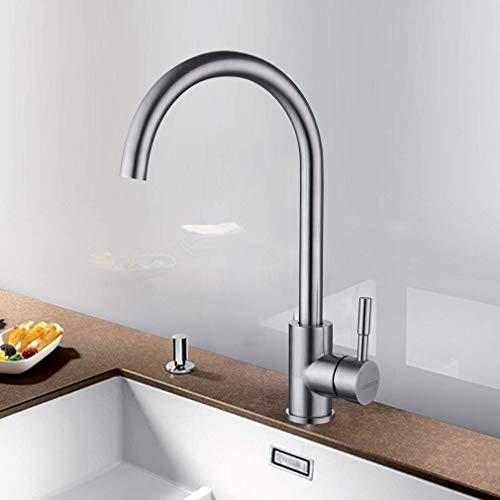 LONHEO 360°Drehbarer Niederdruck Wasserhahn für Küche Edelstahl Einhandmischer...