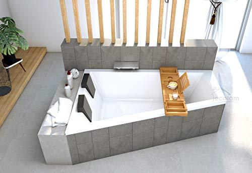 ECOLAM Badewanne Trapezwanne Intima Duo Eckwanne für Zwei 180x125 cm LINKS +...