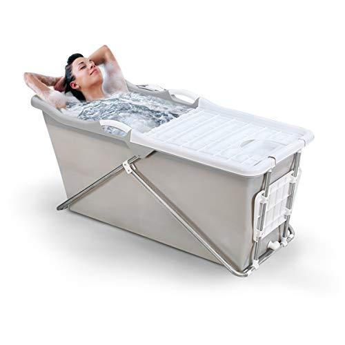 FlinQ Faltbare Mobile Badewanne für Erwachsene   Grau   Einfaches Klicksystem   Ideal für...