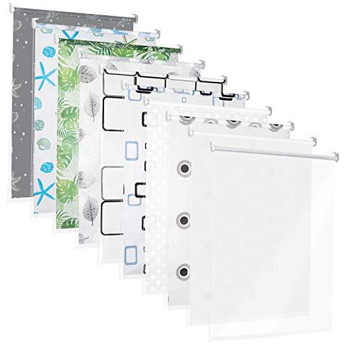 TEXMAXX Duschrollo im Viereck-Retro-Design 140 cm breit - Duschvorhang mit Seitenzug - inkl....