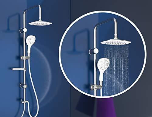 EISL Duschset DUSCHTRAUM Duschsäule mit großer Regendusche 200 x 200 mm und Handbrause, ideal...