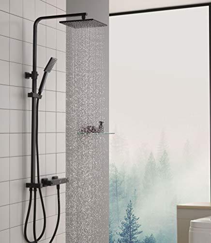 CECIPA Duschsystem ohne Thermostat Duschset Regendusche aus 304 Edelstahl mit Verstellbar...