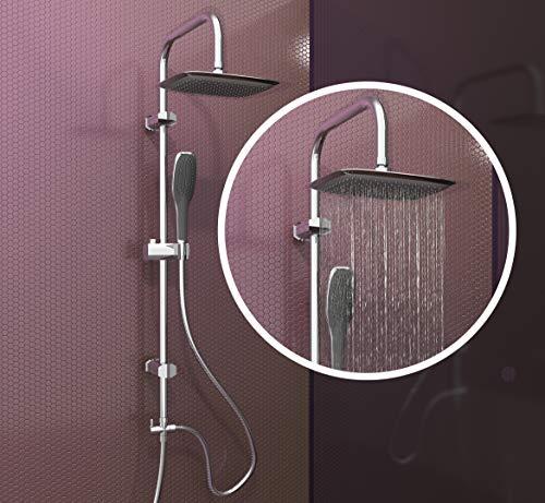 EISL Duschset EASY FRESH, Duschsäule 2 in 1 mit großer Regendusche (250 x 200 mm) und...