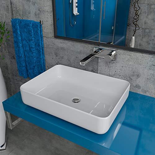 Design Mineralgusswaschtisch Waschbecken Aufsatzwaschtisch Aufsatzwaschbecken aus Mineralguss...