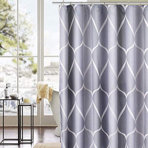 EDLES DESIGN!! Duschvorhang aus Polyester inkl. 12 Duschvorhangringen von Trounistro in 4 Designs und 3 Größen
